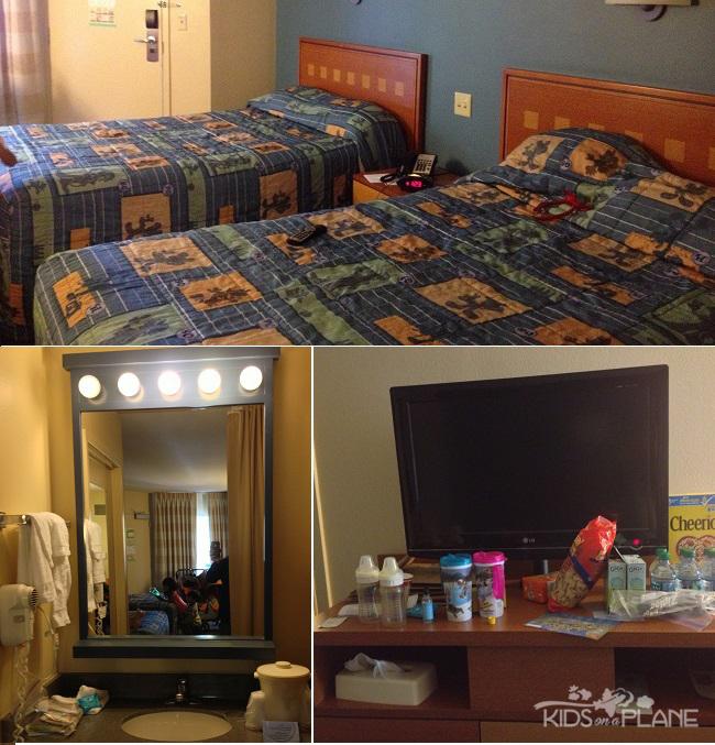 Pop Century Resort Review Standard Room - KidsOnAPlane.com