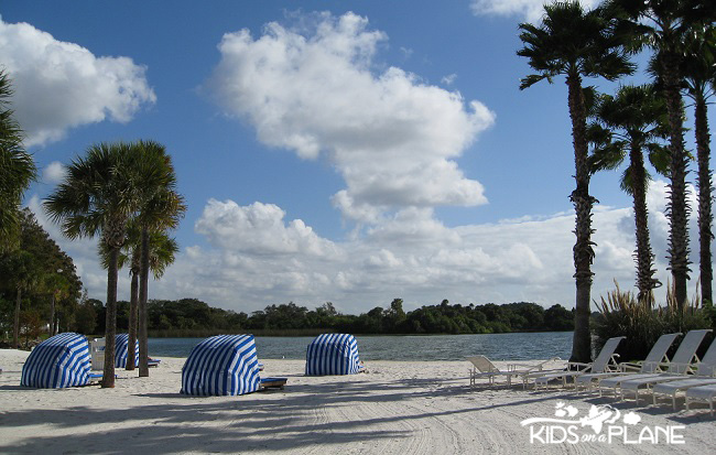 Relaxing Disney World Vacation - Beach at Grand Floridian | KidsOnAPlane.com #disneyworld #resorts #hotel #traveltips