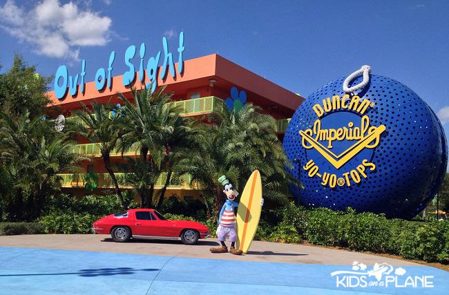 Relaxing Disney World Vacation - Pop Century Resort | KidsOnAPlane.com #traveltips #disneyworld #familytravel