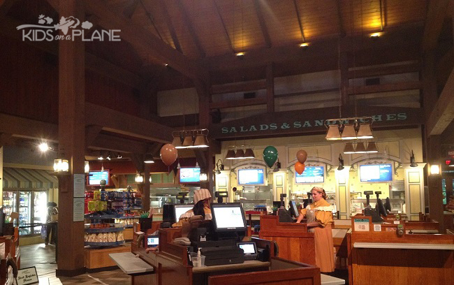 Port Orleans Riverside Resort Review Riverside Mill Food Court | KidsOnAPlane.com #disneyworld #hotel #familytravel