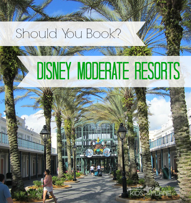 Get the 4-1-1 on Disney's Moderate Resort Hotels. Should your family stay there? What you need to know before you make a reservation. |KidsOnAPlane.com