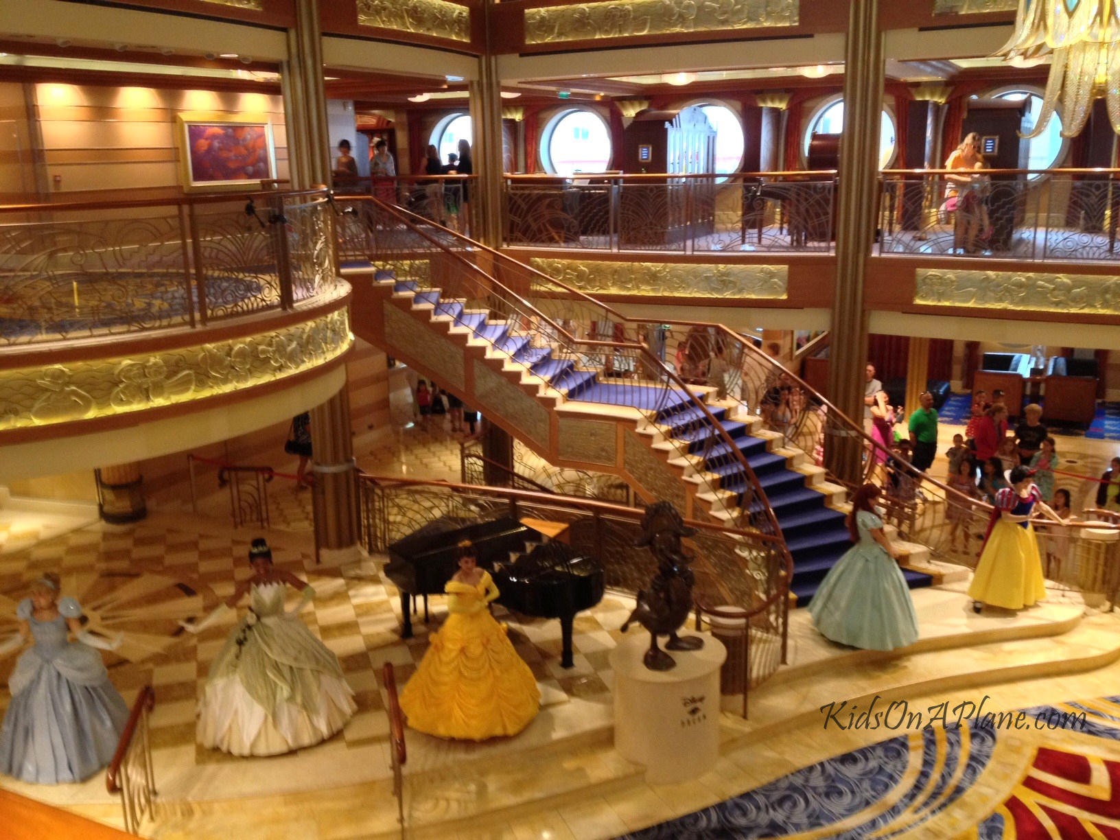 Disney Dream Atrium Princess Meet