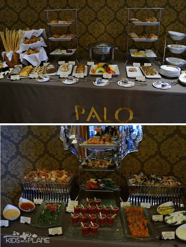 Palo Champagne Brunch Review Disney Cruise Breakfast and Antipasti Buffet | KidsOnAPlane.com #disneycruise #travel #foodie