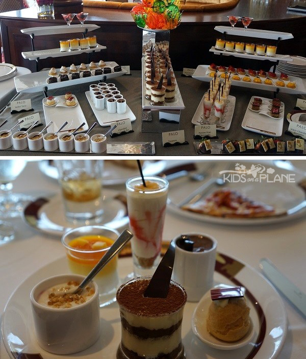 Palo Champagne Brunch Review Disney Cruise Desserts | KidsOnAPlane.com #disneycruise #cruise #travel