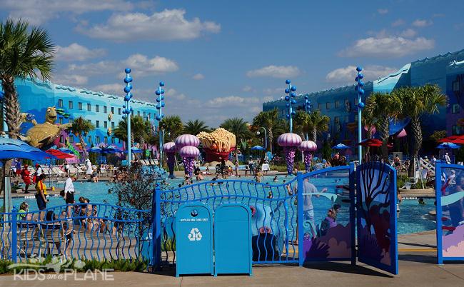 A Guide to Disney's Value Resort Hotels - Art of Animation Pool  KidsOnAPlane.com #disneytravel #disneyworld #familytravel