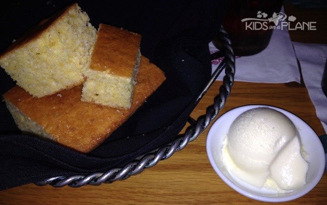 Boatwright's Dining Hall Cornbread - Light, Fluffy and Not to Sweet this is a great way to start dinner at Port Orleans Riverside Resort   KidsOnAPlane.com #restaurant #disneyworld