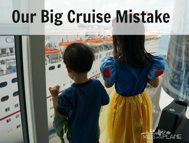 Biggest Cruise Mistake | KidsOnAPlane.com #disneycruise #traveltips #cruise