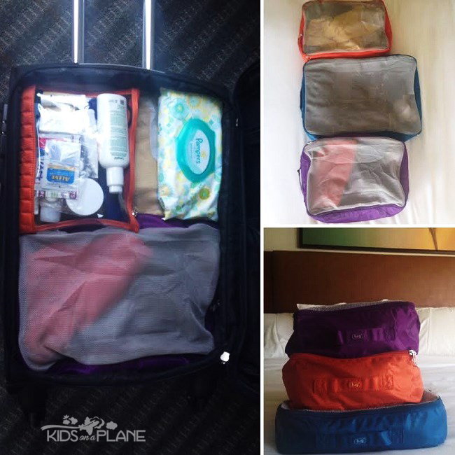 Packing Tips Lug Storage Cubes and Clearview Envelopes - KidsOnAPlane.com