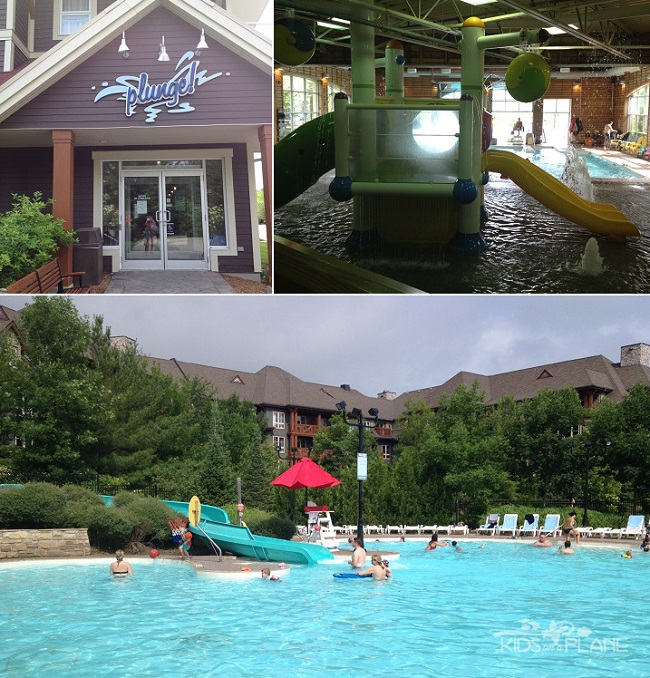 Blue Mountain Resort Collingwood Ontario - Plunge Aquatic Centre - KidsOnAPlane.com Attractions Review