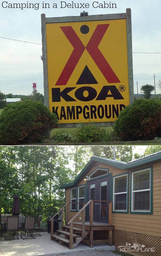 KOA Deluxe Cabin Glamping Camping - KidsOnAPlane.com Review