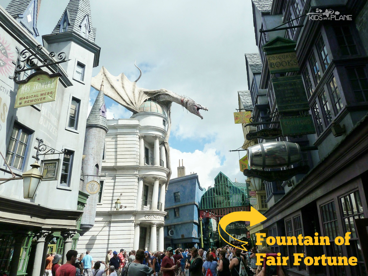 Butterbeer Universal Studios Orlando Fountain of Fair Fortune