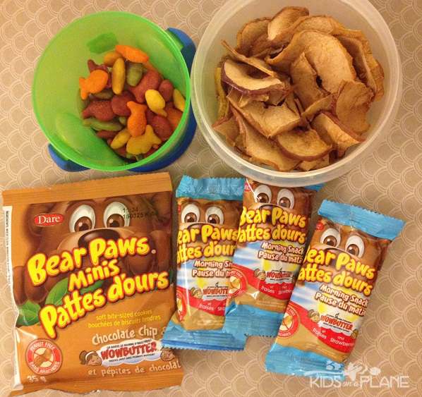 Toddler Friendly Snacks for Flights and Theme Parks including Dare Foods Peanut-Free Snacks